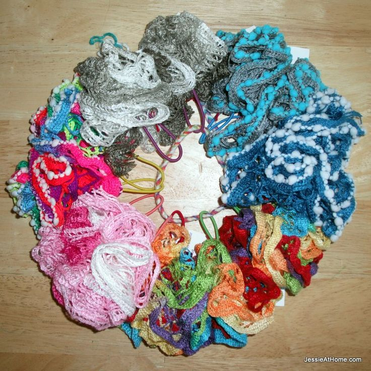 Ruffle Yarn Hair Ties
