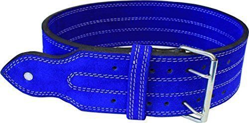 Ader Leather Power Weight Lifting Belt- 4, Blue, Double Buckle (L 34-39) by Ader Sporting Goods. Ader Leather Power Weight Lifting Belt- 4, Blue, Double Buckle (L 34-39).