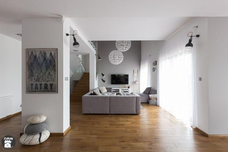 Salon styl Skandynawski - zdjęcie od STABRAWA.PL - pozytywny design - Salon - Styl Skandynawski - STABRAWA.PL - pozytywny design