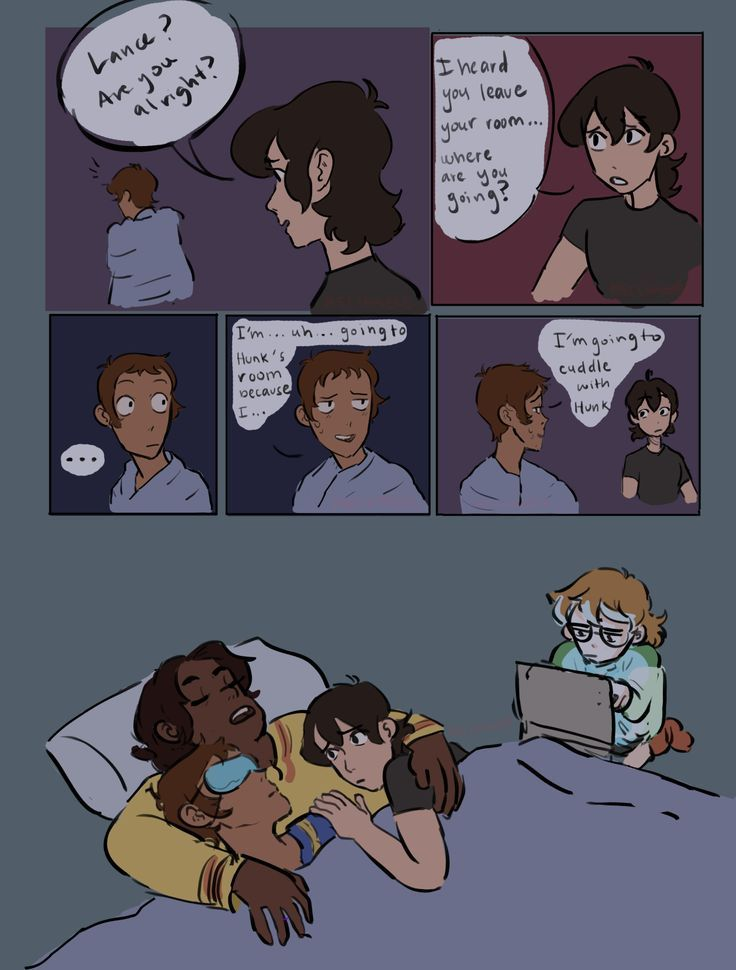 I love thisX'D the team goes to cuddle with Hunk in the