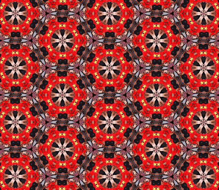 Vietnam Kaleidoscope #Kaleidoscope #Teleidoscope #Pattern #Design #Red