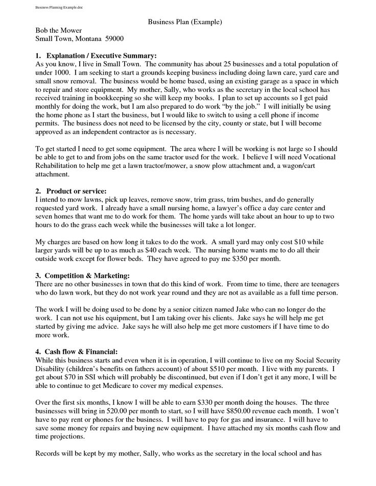 Business Plan Cover Letter Business Plan Sample Cover Page The - Example business plan template