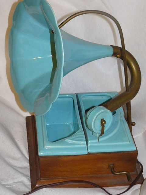 Vintage TV LAMP Mid Century Old Fashion Record Player Design California Pottery Outstanding Light. $150.00, via Etsy.