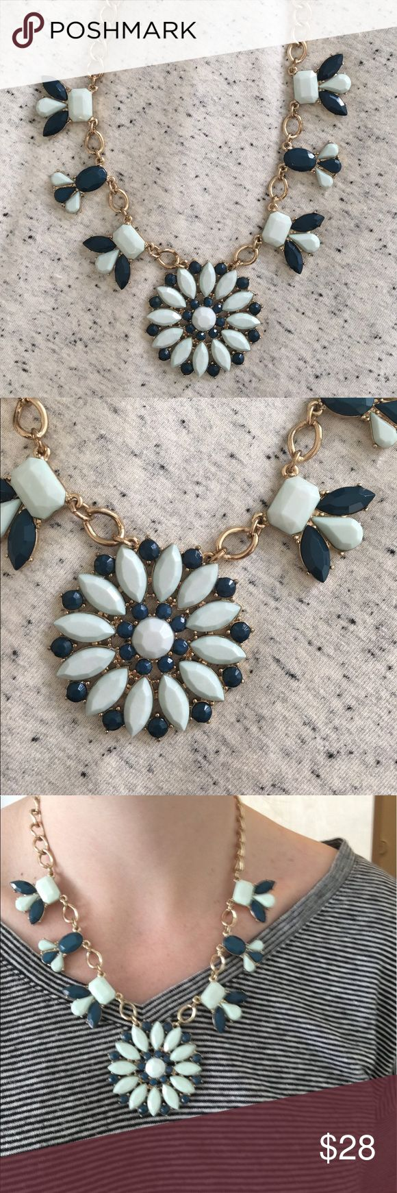 """J Crew Necklace Beautiful light blue and real J Crew Necklace. Gold chain, 18"""" with 3"""" adjustable to add length J. Crew Jewelry Necklaces"""