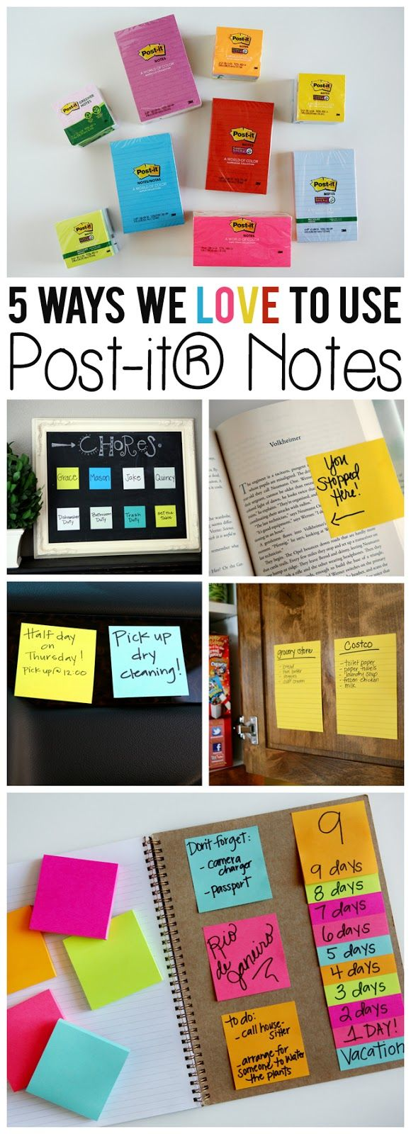 Five Ways We Love To Use Post-it® Notes - @postitproducts