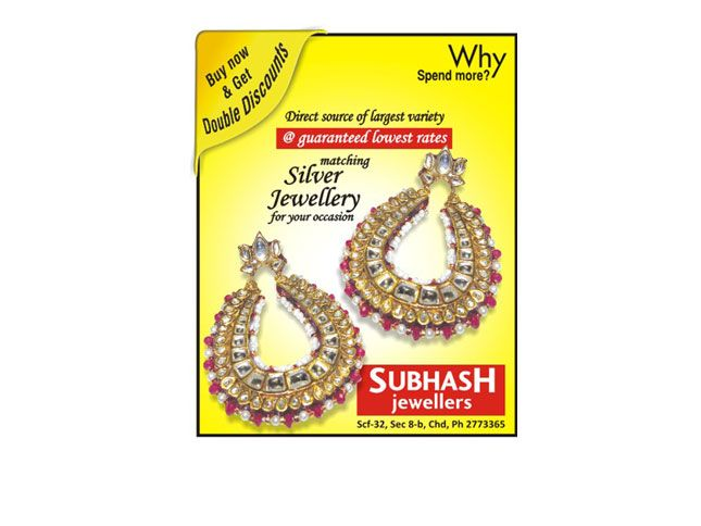 We, at Subhash Jewellers stands proud as No.1 silver superstore in the region.We have a whole world of finest matching silver jewellery to dazzle on your occasion, ready for you for every season and every reason that you have chosen to celebrate.