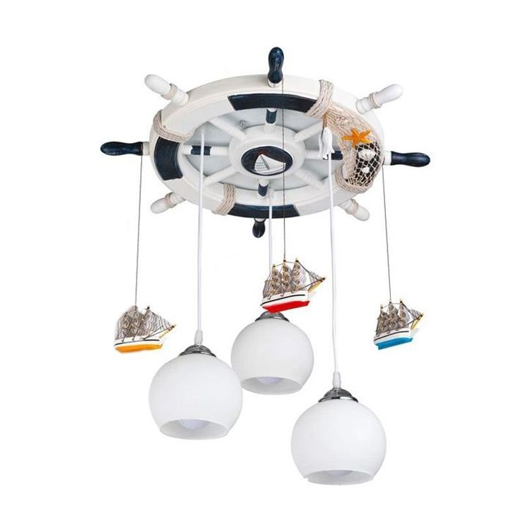 333.39$  Watch now - http://aikgy.worlditems.win/all/product.php?id=32652645265 - Mediterranean Retro Rudder Children's Room Pendent Lights Creative Kid's Room Lamp Fashion Bedroom Lamp Pendant Lamps
