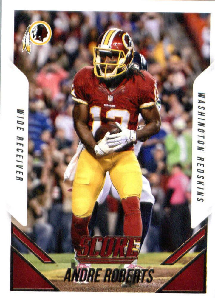2015 Panini Score Football #130 Andre Roberts Washington Redskins #Score #WashingtonRedskins