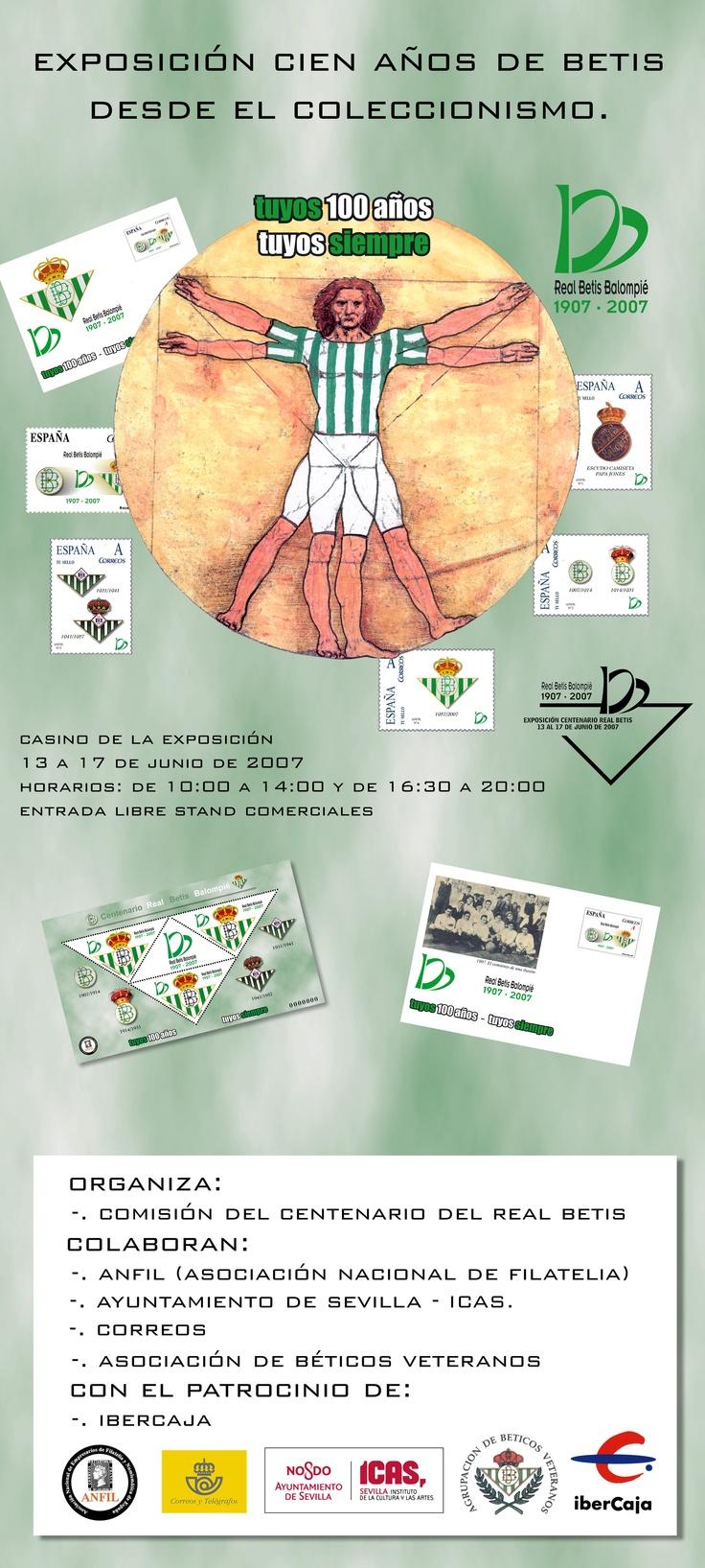 Cartel de presentación de la exposición de cien años del beticismo. Más en http://www.lacaseta.com/100-aniversario-real-betis-balompie/ #Betis #ideas #fútbol #creatividad #design #diseno