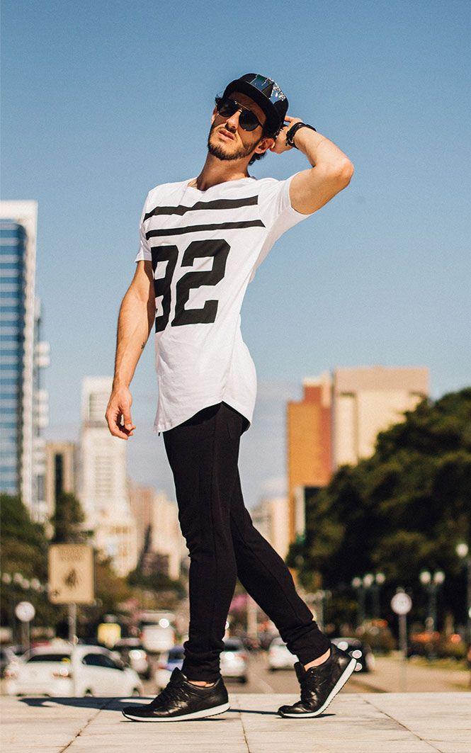 Camiseta long t-shirt calça e jogger