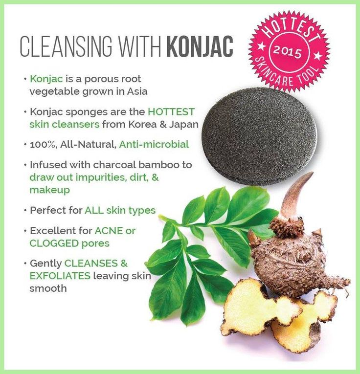 The newest beauty cleansing tool from Asia - Konjac is 100% all-natural and perfect for acne or clogged pores!