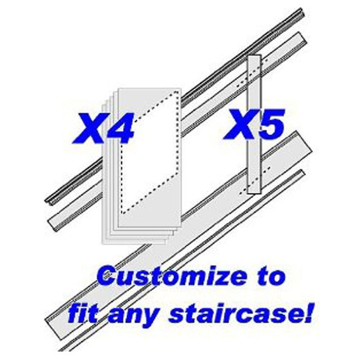"96""L, Adjustable Height Flat Panel Stair Wainscoting Kit, Primed MDF96""L, Adjustable Height Flat Panel Stair Wainscoting Kit, Primed MDF - 199.00 Love this!"
