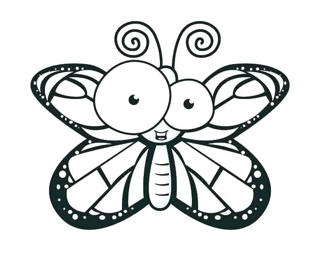 50 Cartoon Butterfly Coloring Pages Images & Pictures In HD