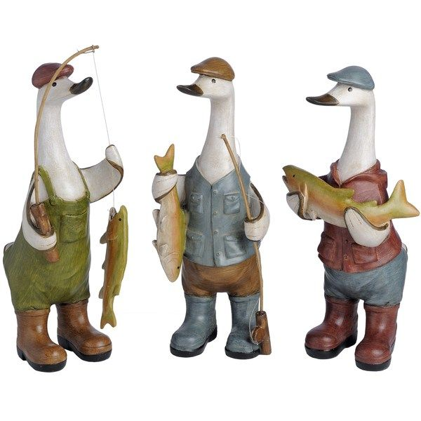Three Fishing Ducks 29 x 13 x 14cm  £24.95 (Price for a single duck) Available from Holly House, Enterprise Shopping Centre, http://enterprise-centre.org/shop/holly-house-gifts