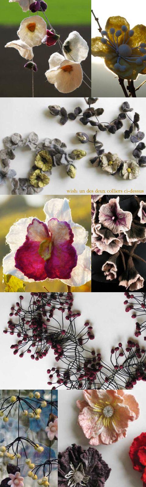 Karin Wagner - felt flowers?