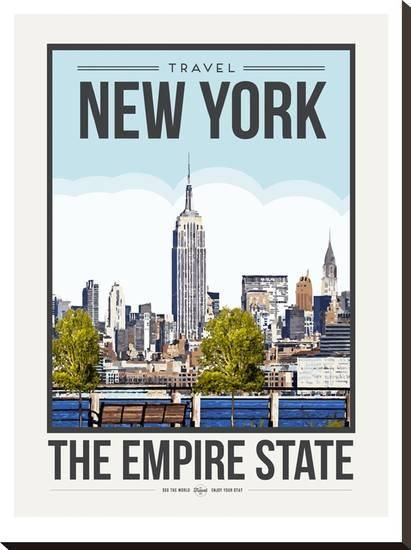 Travel Poster New York City Stretched Canvas Print by Brooke Witt at Art.com
