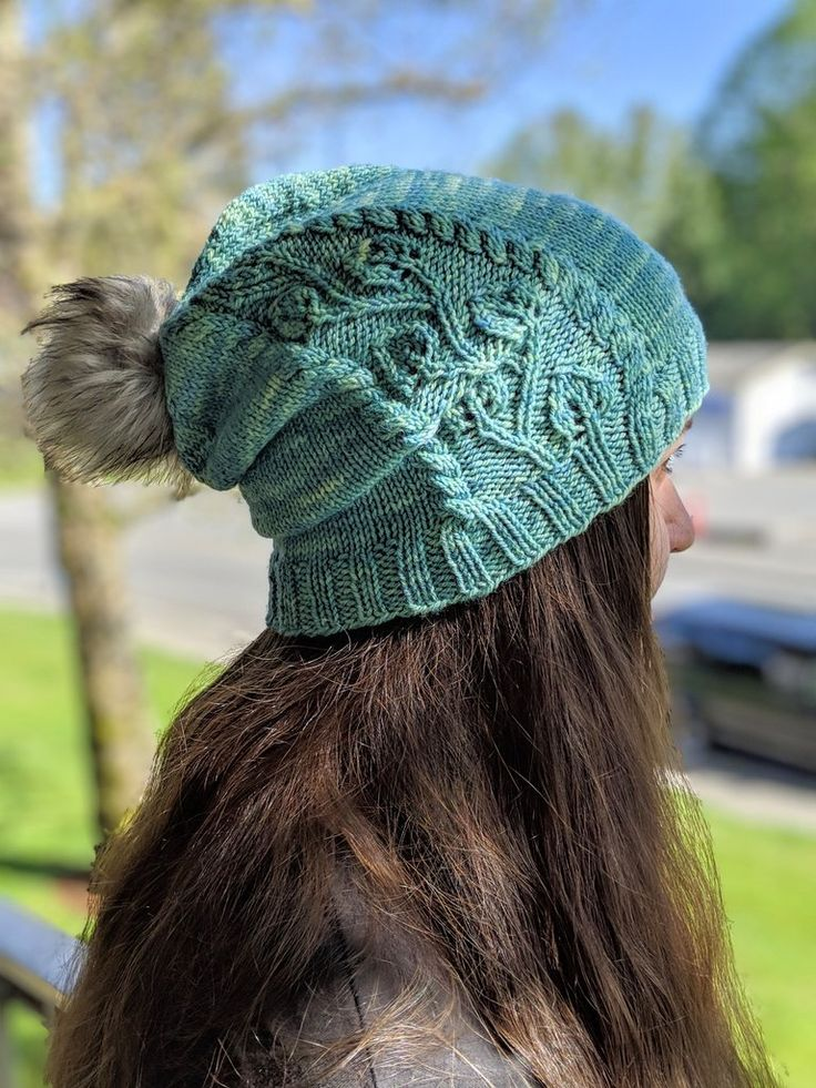 New Growth slouchy hat knitting pattern PDF, sport weight ...