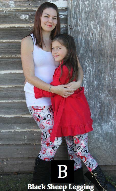 Mommy & Me Printed Leggings ! www.blacksheeplegging.com