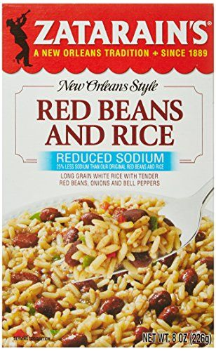 ZATARAIN'S Reduced Sodium Red Beans and Rice, 8-Ounce (Pack of 6) *** You can find more details by visiting the image link.