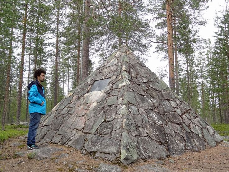 Visiting Maupertuis Memorial at the top of the Mount Kittis (Kittisvaara) located next to center of Pello in Lapland