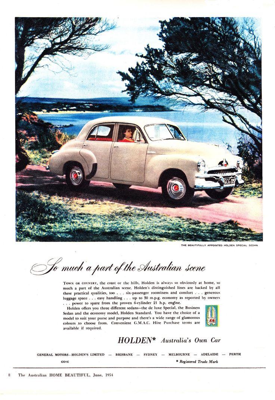 https://flic.kr/p/EsdPyb | 1954 FJ Holden Sedan Aussie Original Magazine Advertisement