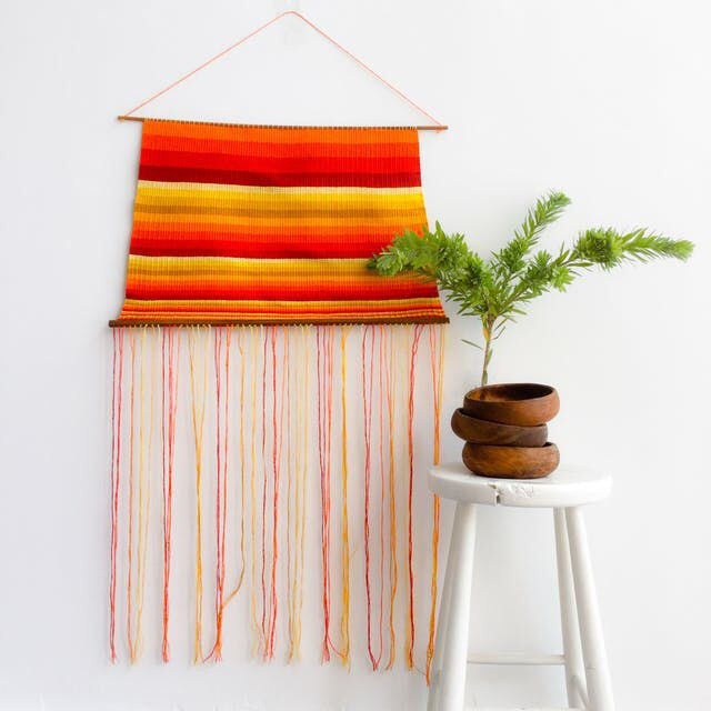 Extra large Sunrise weaving wall hanging is now available for purchase!