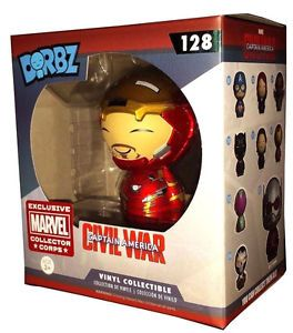 Funko Dorbz Marvel #128 Ironman Unmasked Marvel Collector Corps Exclusive. #marvel #ironman