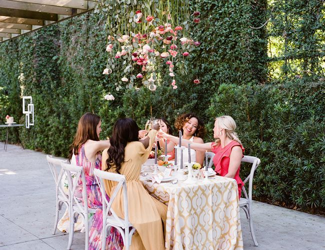Spring Peach Bridal Shower - Inspired By This
