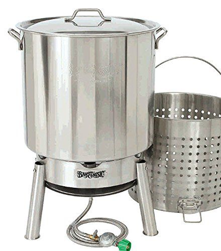 Bayou Classic Crawfish Kit 82-qt Stainless Steel Pot with Boil Basket and Jet Cooker  Crawfish Cooker Kit (KDS1 Cooker & 82 Qt Stainless Pot) 82 Qt Stainless Steel Pot, Lid and Boil Basket 82 Qt Stainless Steel Pot, Lid and Boil Basket Single Jet Burner with 60″ Stainless Steel Braided Hose 82 Qt Stainless Steel Pot, Lid and Boil Basket 82 Qt Stainless Steel Pot, Lid and Boil Basket Single Jet Burner with 60″ Stainless Steel Braided Hose Crawfish Kit 82 Qt Stainless Steel Pot, Lid an..