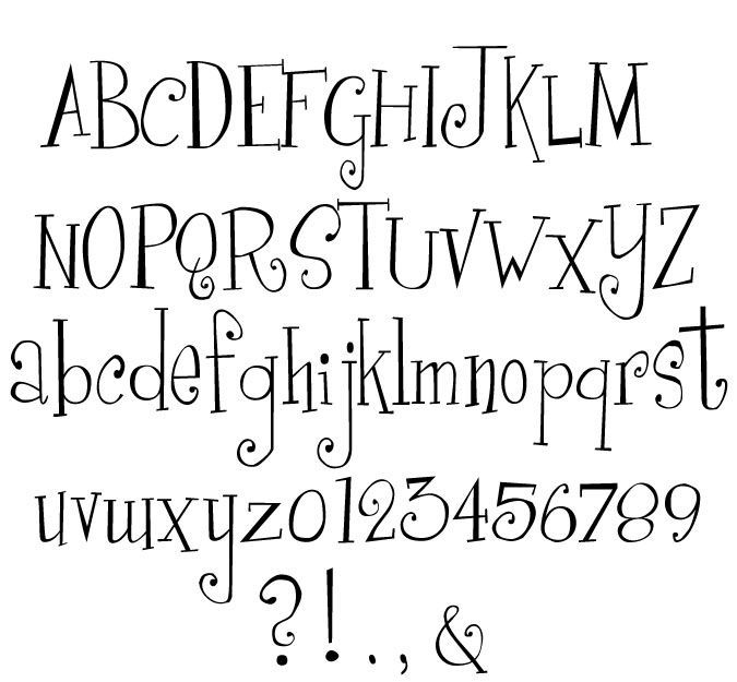 Best  Cute Fonts Alphabet Ideas On   Letter Fonts