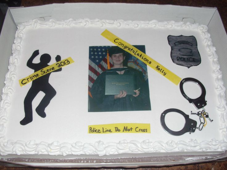 Criminal Justice Grad Cake