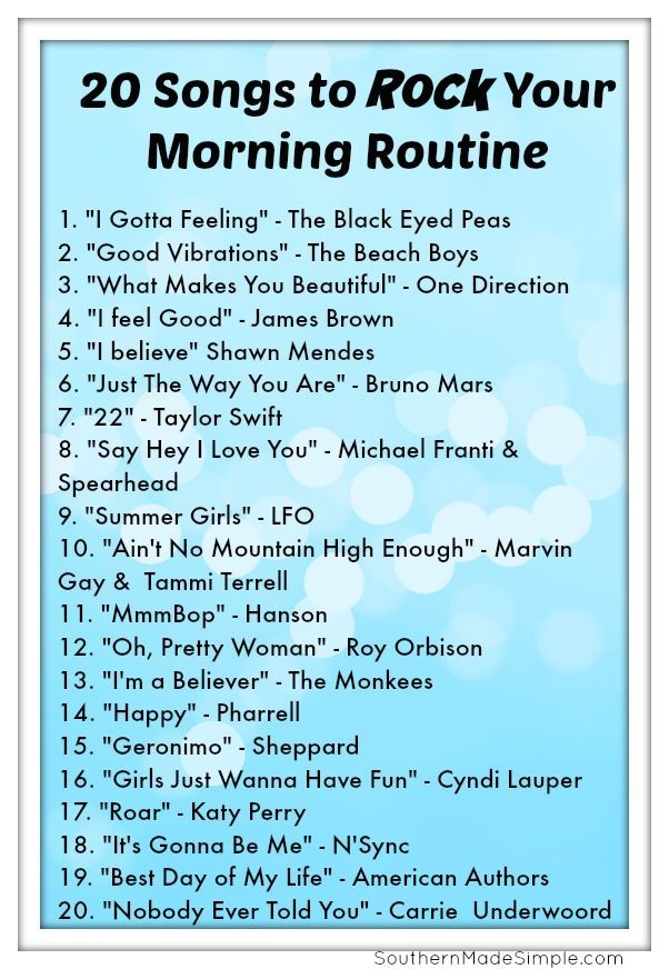 #printable #morning #routine #boldly #songs #ways