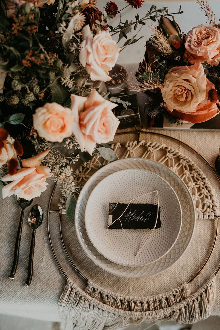 Desert Elopement Inspiration with a Bell Sleeve Bridal Gown