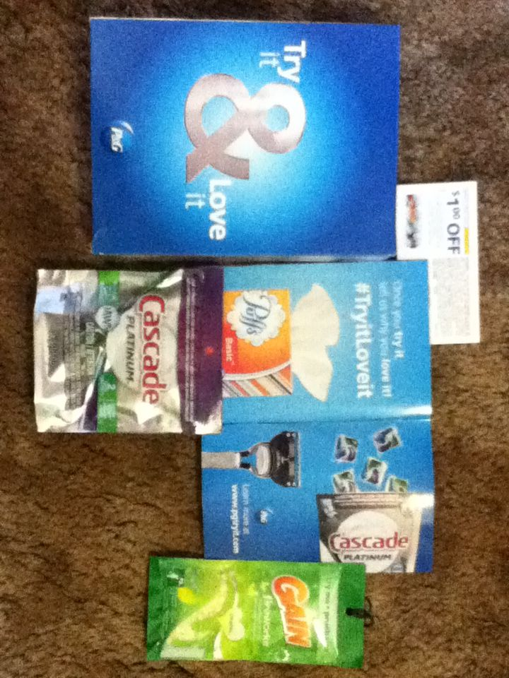 Samples and coupons from Procter & Gamble