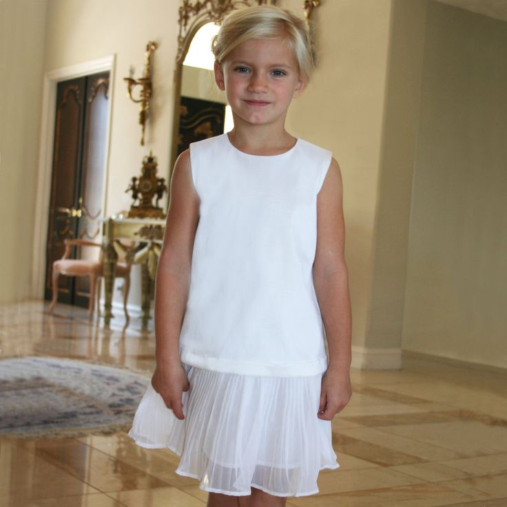 chiffon pleated girls dress