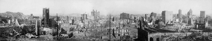 View of the destruction brought about by the San Francisco Earthquake, 1906