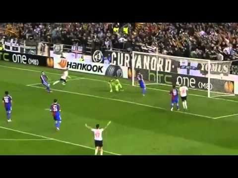 ▶ Paco Alcacer Goal   Valencia vs FC Basel 2 0 Europa League 2014