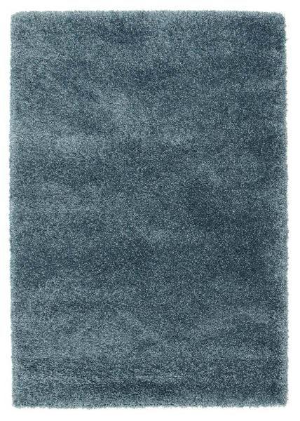 Camden Teal Blue Modern Plush Shaggy Rug