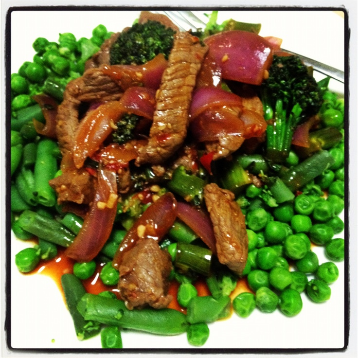 Beef and broccolini stirfry with extra greens - all 12wbt - And Michelle Bridges