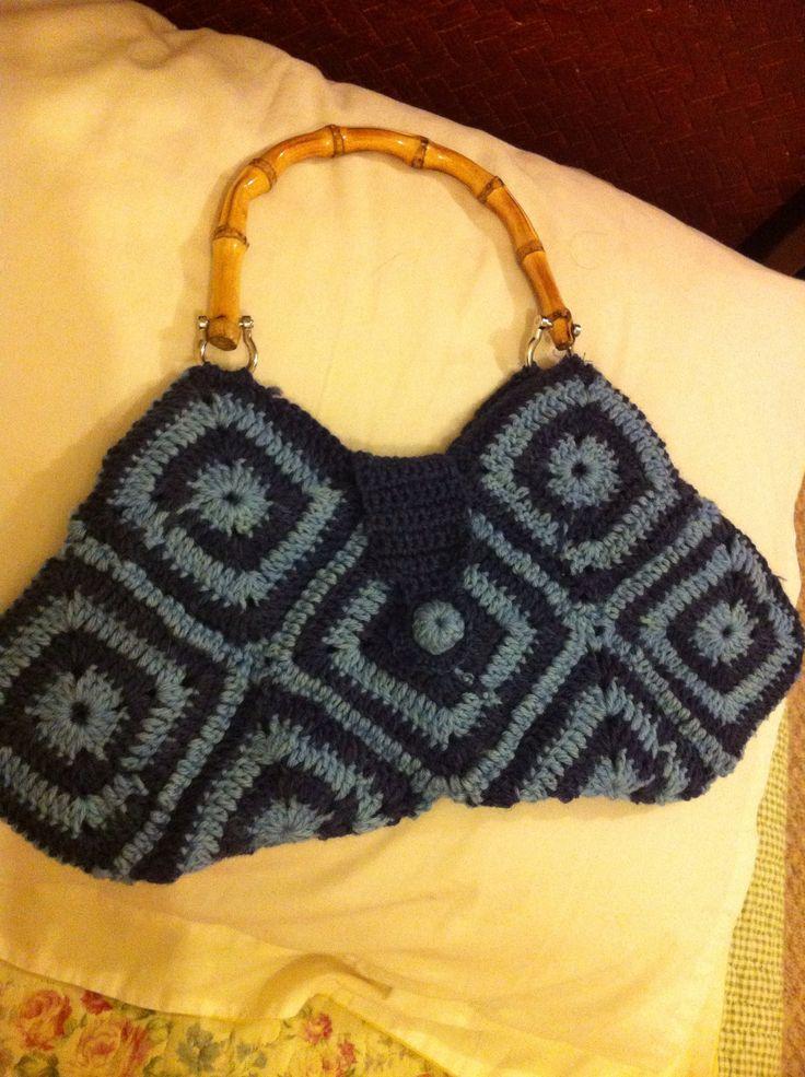 cartera hecha por mi a crochet