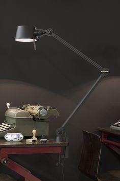 Bolt bureaulamp - dubbele arm met klem