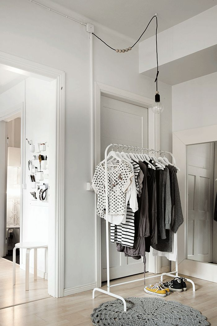the clothes rack