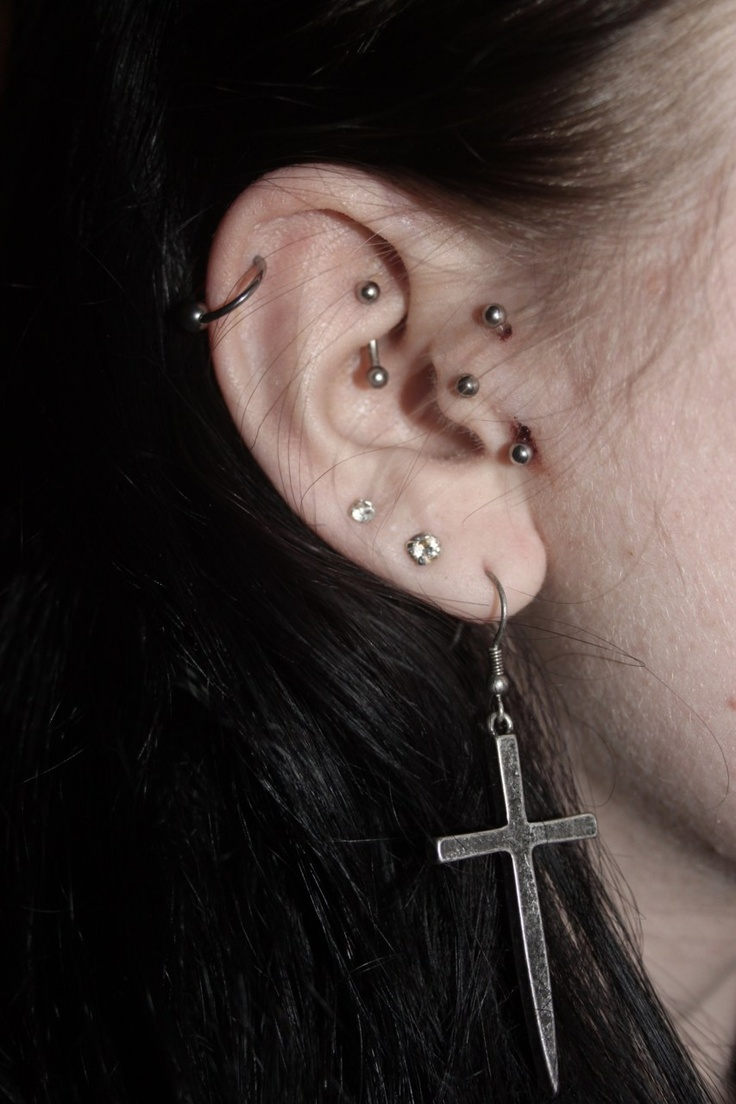 Piercing nose with sewing needle   best Earrings and piercings images on Pinterest  Earrings Ears