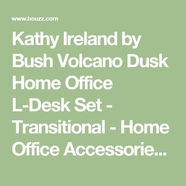 Kathy Ireland by Bush Volcano Dusk Home Office L-Desk Set - Transitional - Home Office Accessories - by Cymax