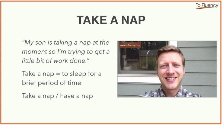 Take/Have a Nap: Definition and Examples (English Vocabulary)