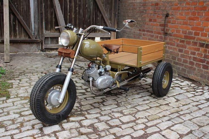 Simson Kiebitz unbekannter Prototyp aus Suhl by Kraftrad Nöda - Schwalbe Spatz Sperber Sr50 Sr2 ... Custom Custombike