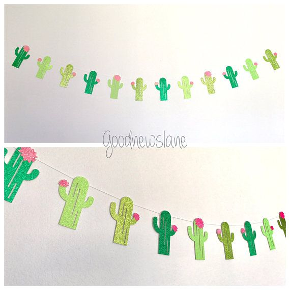 🌵Taco Bout A Party 🌵 TEXT BANNER -🌵-🌵-5Ft long Cactus Garland -Fiesta Fiber Yarn Garland Everything will arrive to you READY TO HANG. each letter measures 4 tall Cactus are 5 tall Ship in 4-6days You can Choose in the drop box: -Text Banner only: cactus-TACO BOUT A PARTY-cactus $22 -Text & Cactus Garland: cactus-TACO BOUT A PARTY-cactus & 5feet long Cactus Garland $35 -All 3 Decor: cactus-TACO BOUT A PARTY-cactus, 5feet long Cactus Garland and the Fiesta Fiber Yarn Garland $60  Fi...
