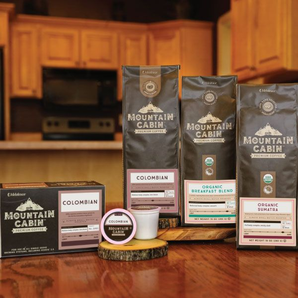 Get out your grinder! Mountain Cabin introduces 2 new whole-bean coffees—Organic Sumatra & Organic Breakfast Blend.