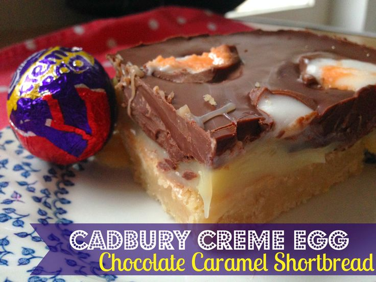 Cadbury Creme Egg Chocolate Caramel Shortbread - the most decadent Easter treat ever!