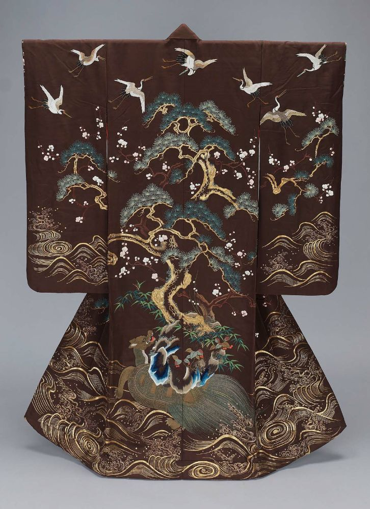 """ Kimono (uchikake) with Island of Paradise design, made in Japan in the 19th century (source). """